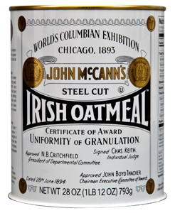 McCann's Steel-cut Irish Oatmeal