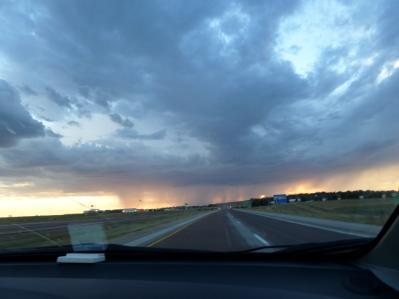 Rain in the distance