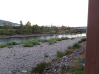 Clark Fork River in Missoula from bridge