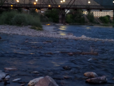 experimenting with waterfall mode Clark Fork River at hotel