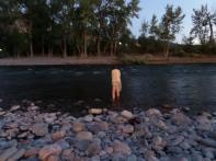 Clare in Clark Fork River
