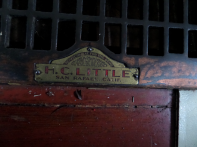 Old furnace grate label