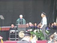 Andrew approaching podium