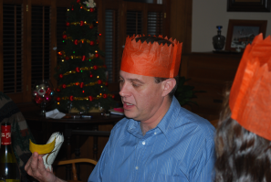 Kevin with a silly hat