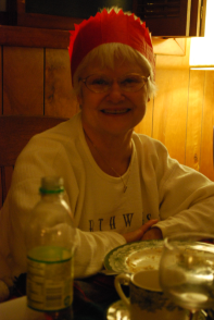 Mom with a silly hat